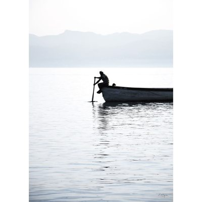 Bild av Rower On The Lake II poster, 50x 70