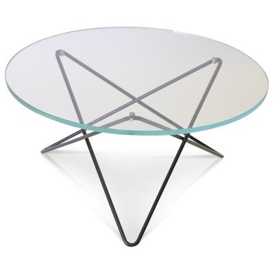 O soffbord glas/svart