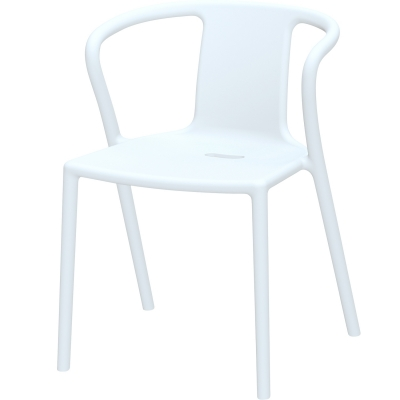 Air Armchair karmstol pure white