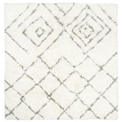 Kuba matta elfenben/grå 180x180