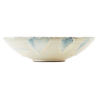 Mio skål L, vit/blå