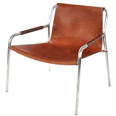 September loungestol konjak/stål