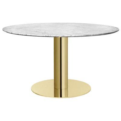 Gubi 2.0 bord, marmor/mässing