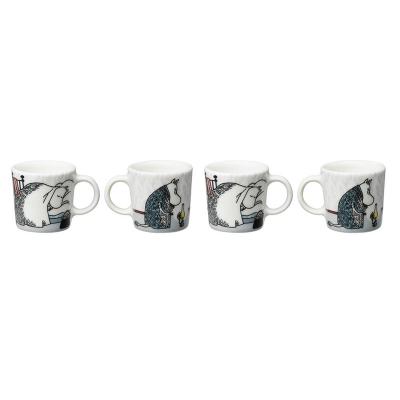 Mumin Dvala minimugg 4-pack, vit/grå