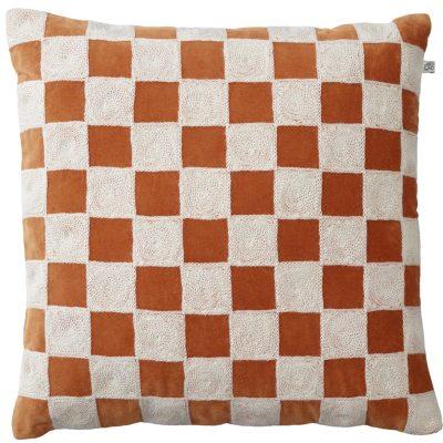 Mysore kuddfodral, orange/vit