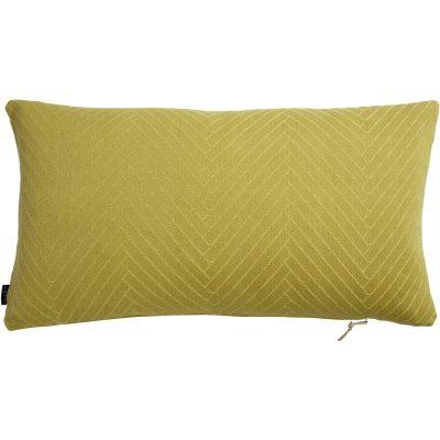 Bild av Fluffy Herringbone kudde, gul
