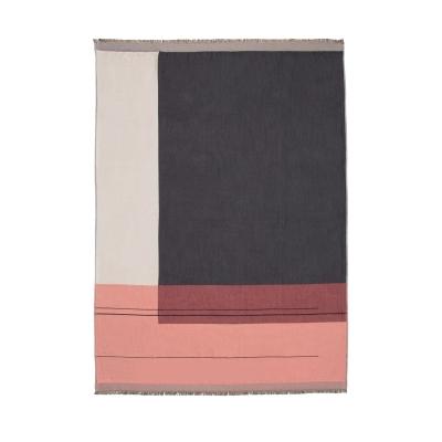 Colour Block pläd, rosa