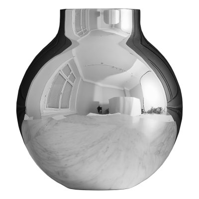 Boule vas L, silver