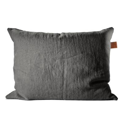 Frövi linne kuddfodral M mörkgrå