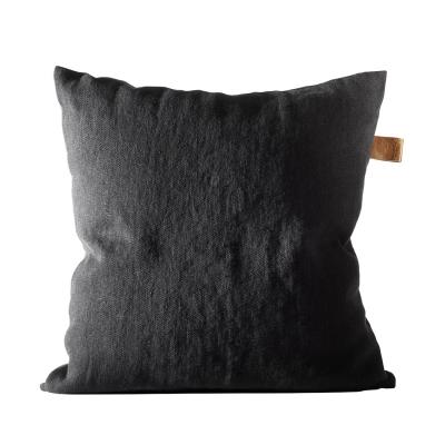 Bild av Frövi linne kuddfodral S, svart