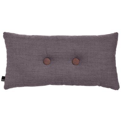 Bild av 2 Dots kudde, greyish burgundy