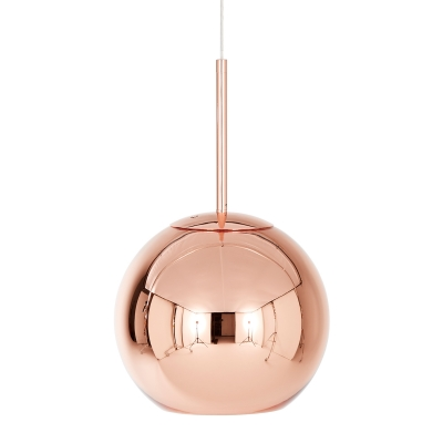 Copper Round pendel small