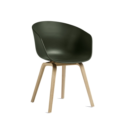 Bild av About a Chair 22, grön/såpade ekben