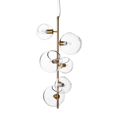 Bild av Göte taklampa, mässing/klarglas