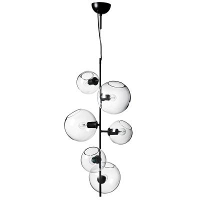 Bild av Göte taklampa, svart/klarglas