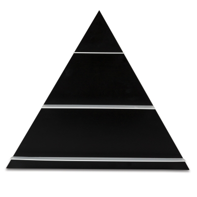 Paper Shelf Triangular hylla svart
