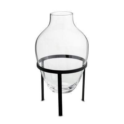 Glas vas L, svart