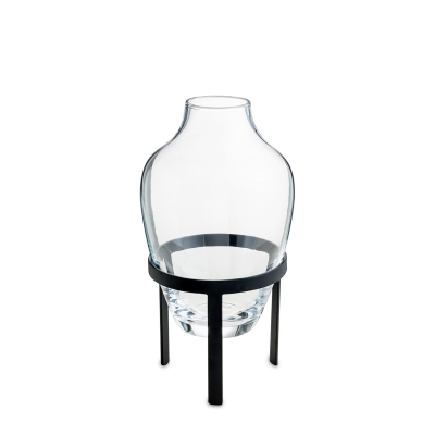 Glas vas S, svart
