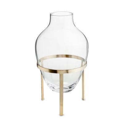 Bild av Glas vas L, matt mässing