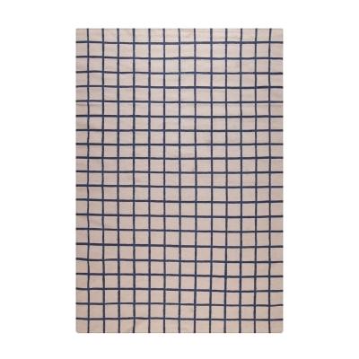 Bild av Tapis Damier matta 170x 240 cm, beige/blå