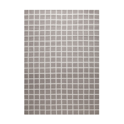 Bild av Tapis Damier matta 200x 300 cm, grå/vit