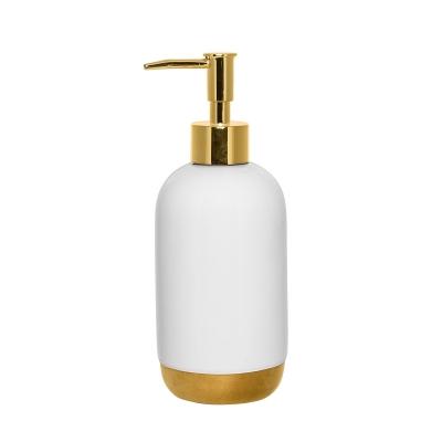 Whitegold tvålpump, vit/guld