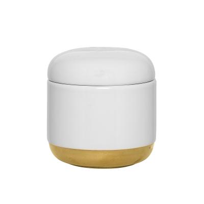 Whitegold förvaringsburk, vit/guld