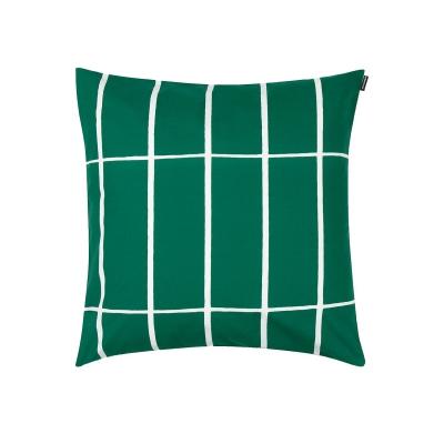 Tiiliskivi kuddfodral, grön/vit