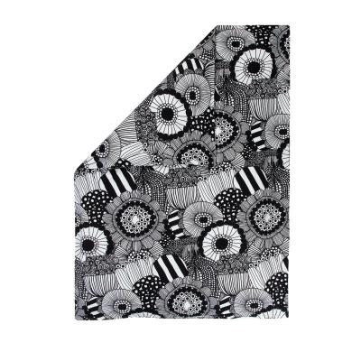 Bild av Siirtolapuutarha påslakan enkel, vit/svart