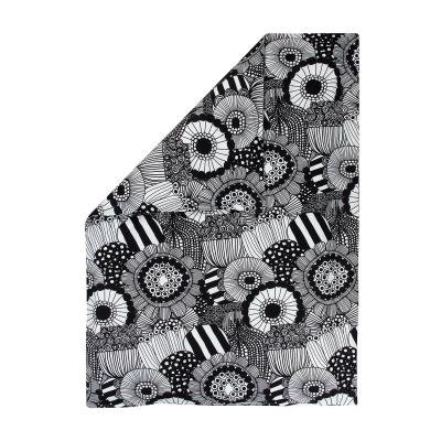 Bild av Siirtolapuutarha påslakan dubbel, vit/svart