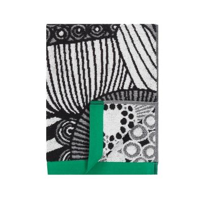 Siirtolapuutarha handduk vit/svart/grön