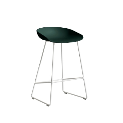 Bild av About a Stool 38 barstol h 65, hunter/vit