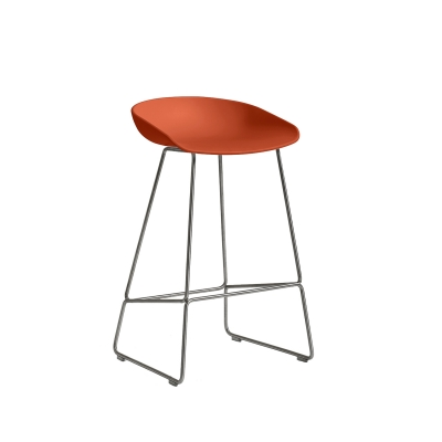 Bild av About a Stool 38 barstol h 65, orange/rostfritt