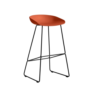 Bild av About a Stool 38 barstol h 75, orange/svart