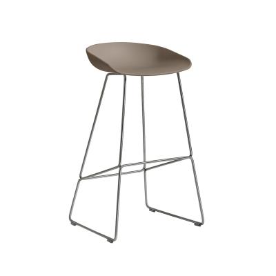 Bild av About a Stool 38 barstol h 75, khaki/rostfritt