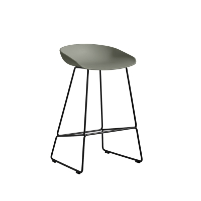 Bild av About a Stool 38 barstol h 65, dusty green/svart