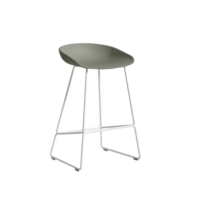 Bild av About a Stool 38 barstol h 65, dusty green/vit