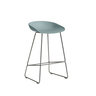 About a Stool 38 barstol h65 dusty blue/rostfritt