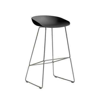 Bild av About a Stool 38 barstol h 75, soft black/rostfritt
