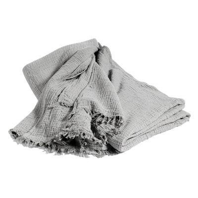 Crinkle sängöverkast 270×270 grå
