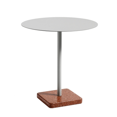 Bild av Terrazzo bord rund Ã?70, röd/ljusgrå