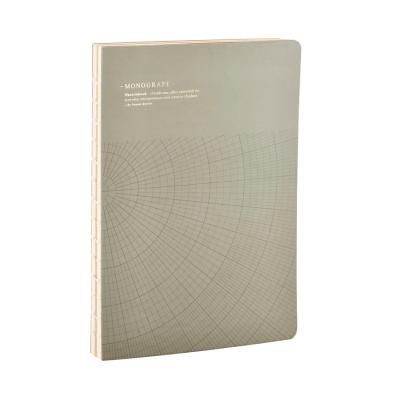 Geometric anteckningsbok L grå/grön