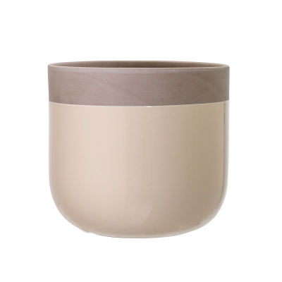 Terracotta blomkruka M offwhite/grå