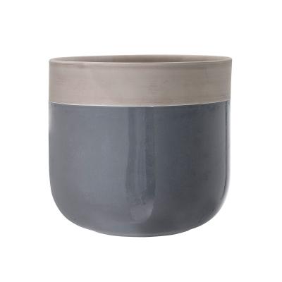 Bild av Terracotta blomkruka M, mörkgrå/grå
