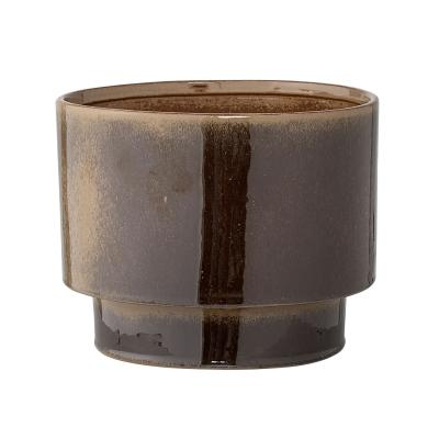 Bild av Stoneware blomkruka S, mörkbrun