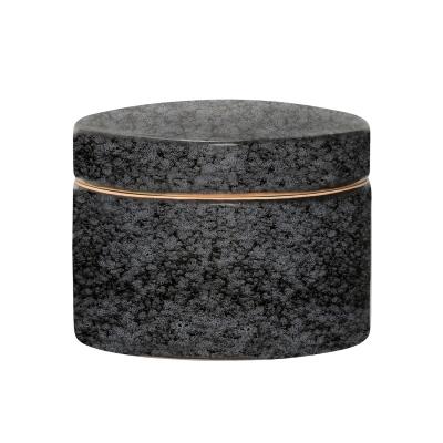 Noir skål med lock L, svart