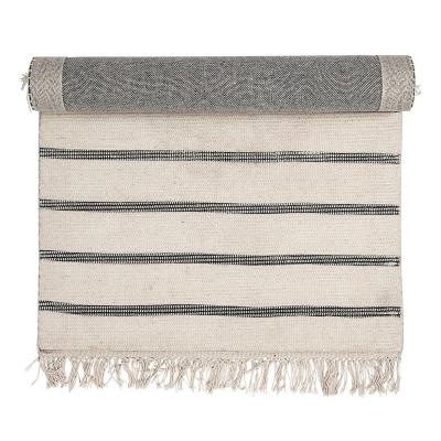 Bild av Striped matta 120x 60 cm, offwhite/grå