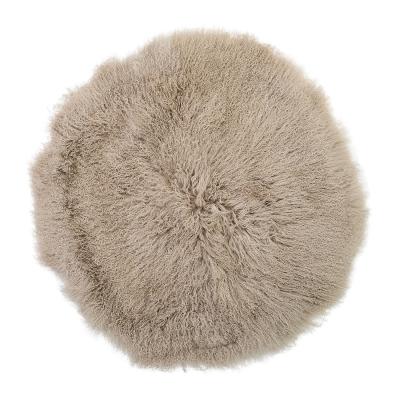 Mongolian matta Ø90 cm, natur/fårskinn