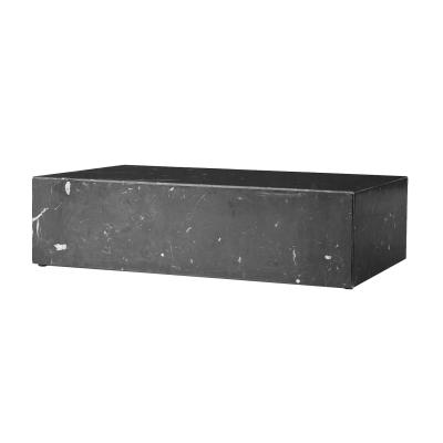 Plinth low soffbord, svart marmor