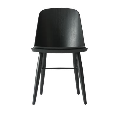 Synnes stol svart ask/svart läder